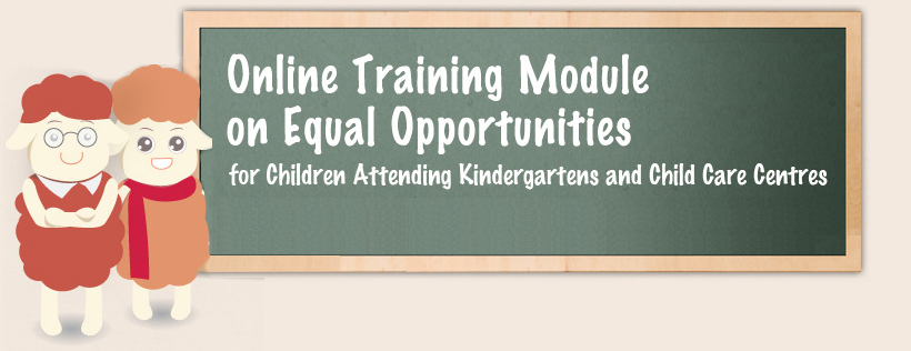 Cover of Online Training Module on Equal Opportunities for Children Attending Kindergartens and Child Care Centres