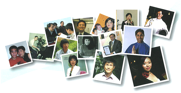 Photos of interviewees of the commemorative publication