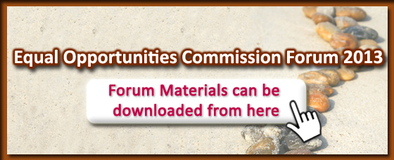 Equal Opportunities Commission Forum 2013. Forum Materials can be downloaded from here.